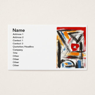 Modern Loft-Hand Painted Abstract Art Business Card