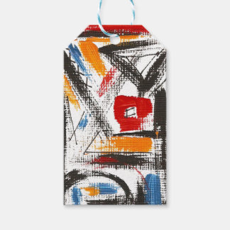 Modern Loft-Hand Painted Abstract Art Gift Tags