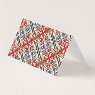 Modern Loft-Hand Painted Abstract Geometric Art Business Card