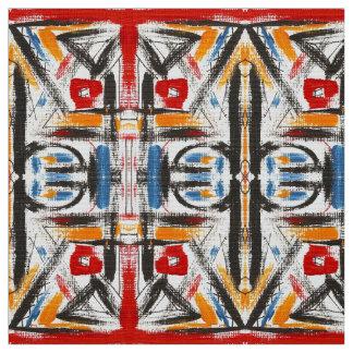Modern Loft-Hand Painted Abstract Geometric Art Fabric