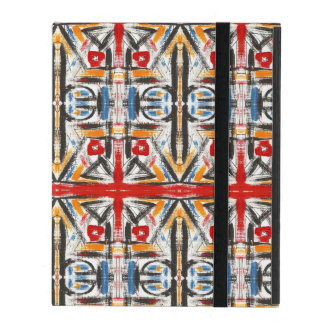 Modern Loft-Hand Painted Abstract Geometric Art iPad Folio Case