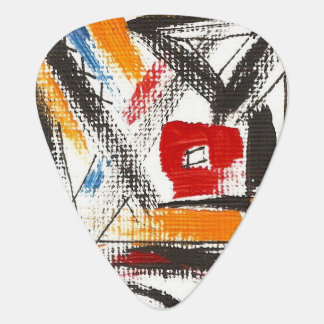 Modern Loft-Hand Painted Abstract Geometric Art Plectrum