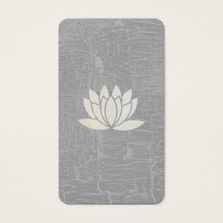 Modern Lotus Flower Marbled Grey Business Card