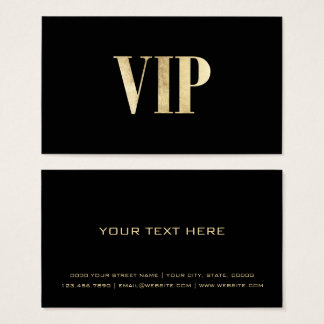 Modern luxury black and gold VIP card club member