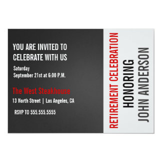 Modern Men's Retirement Party Celebration Invite