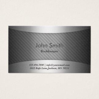 Modern Metal Stripes Bookkeeper Business Card