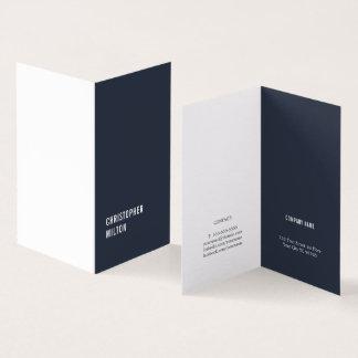 Modern Minimal Blue White Consultant Card