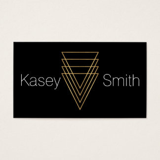 Modern Minimalist Gold Triangles Business Card
