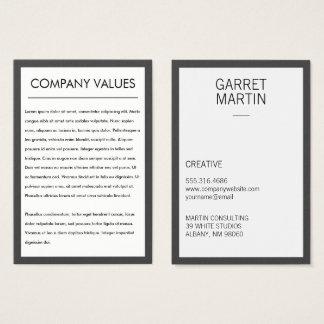 Modern Minimalist (Grey / White) Business Card