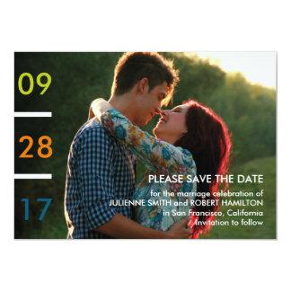Modern Minimalist Photo Save the Date Card