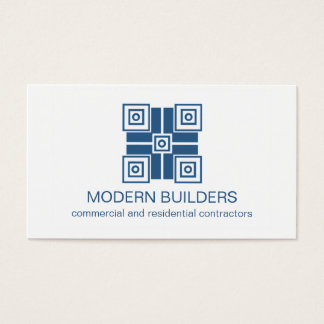 Modern Minimalistic Business Card, Royal Blue Business Card
