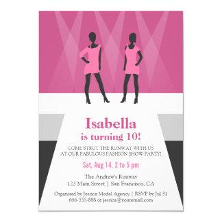 Modern Models Runway Fashion Show Birthday Party 11 Cm X 16 Cm Invitation Card