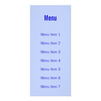 Modern Monogram - Blue Personalized Rack Card