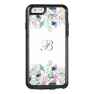 Modern Monogram Floral OtterBox iPhone 6/6s Case