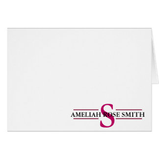 Modern Monogram Personal-Business Notecards Card