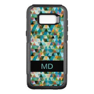 Modern Mosaic Monogram OtterBox Commuter Samsung Galaxy S8+ Case