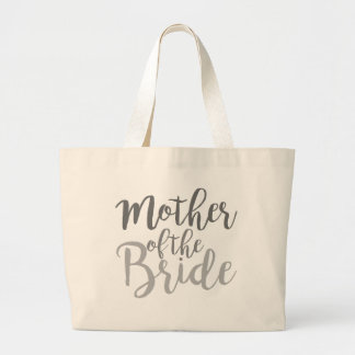 Modern Mother of The Bride Cursive Ombre Jumbo Tote Bag