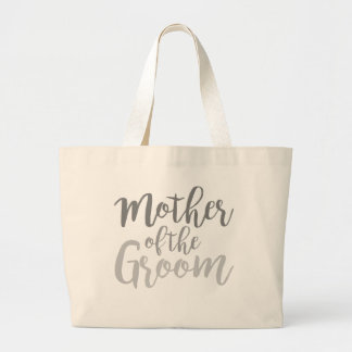 Modern Mother of The Groom Cursive Ombre Tote Jumbo Tote Bag