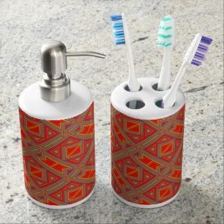 Modern Native American 22 Soap Dispenser And Toothbrush Holder