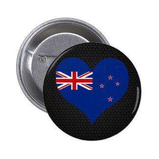 Modern New Zealander flag 6 Cm Round Badge