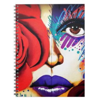 Modern NYC Street Art Spiral Notebook