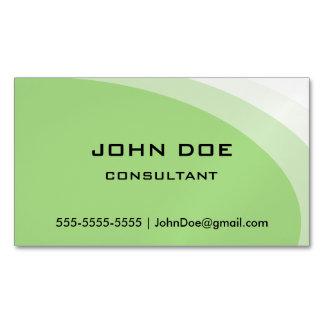 Modern Organic Green Design Magnetic Business Card