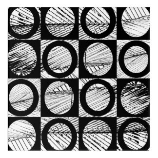 modern original abstract bold black and white art