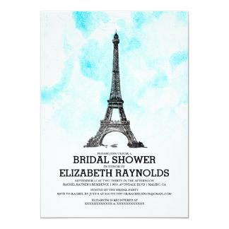 Modern Paris Bridal Shower Invitations