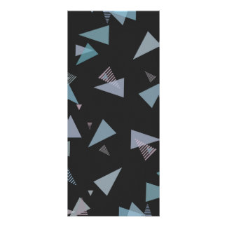 Modern pastel color triangle Rack Card