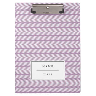 Modern Pattern Personalised Clipboard - Lilac