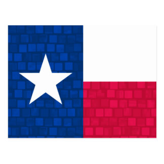 Modern Pattern Texan Flag Postcard