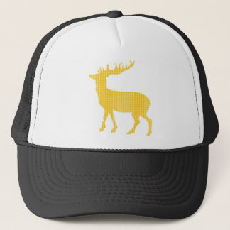 Modern patterned stag trucker hat