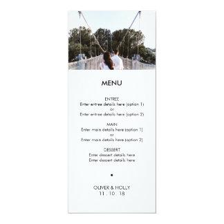 Modern photo template wedding menu
