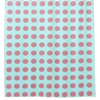 Modern Pink Polka Dot Pattern Shower Curtain
