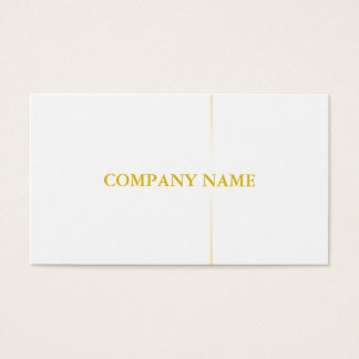 Modern Professional Elegant Black White Gold Business Card