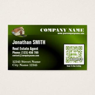 Modern QR code business card – Green QR454