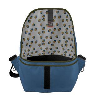 Modern Raindrops Messenger Bag
