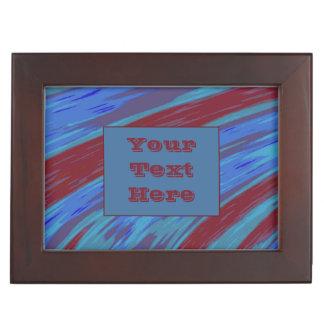 Modern Red Blue Color Swish Keepsake Box