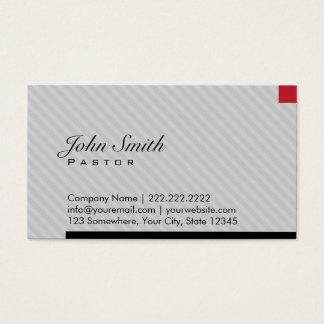 Modern Red Pixel Pastor Business Card