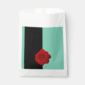 Modern Red Rose Favour Bags