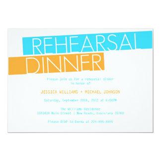 Modern Rehearsal Dinner (Today's Best Award) 13 Cm X 18 Cm Invitation Card