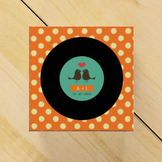 Modern Retro Vinyl Record Wedding Favour Box