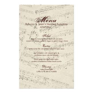 Modern Romantic Music notes Music Wedding Stationery