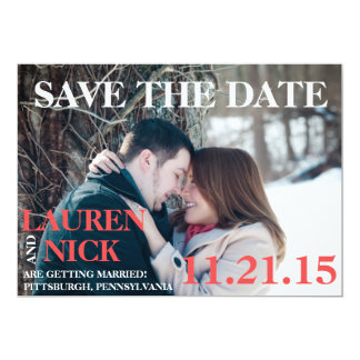 Modern Rustic Save the Date Card