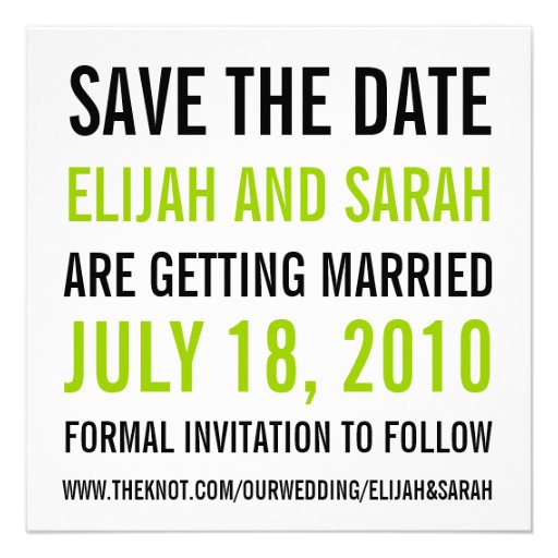 Modern Save the Date Announcement