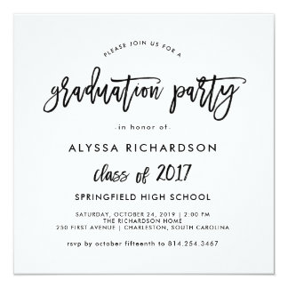Modern Script | Graduation Party Invitation