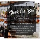 Modern Script Photo Stock the Bar Couples Shower 2 Card