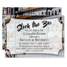 Modern Script, Photo Stock the Bar Couples Shower Invitation