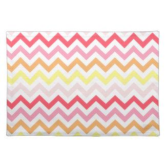 Modern Sherbert Colorful Chevron Zigzag Place Mat