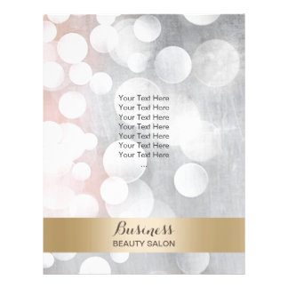 Modern Silver & Gold Beauty Salon Brochures